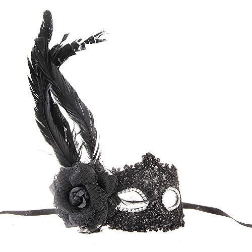 Mask Venice - Venetian Mask Venice Feather Flower Black Show Carnival - Full Stand Wall Bird Shut Held Elastic Couple Book Kids Lace Rose Soft Dragon Bulk Leather Silver Green Decorate Venice -