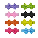 8 Luxury Baby Pet Dog Hair Clips Small Bows Knot – Handmade, My Pet Supplies