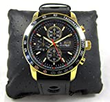 Slava wrist mens watch AU Gold plated Quartz casual watch SL10038GB Calendar