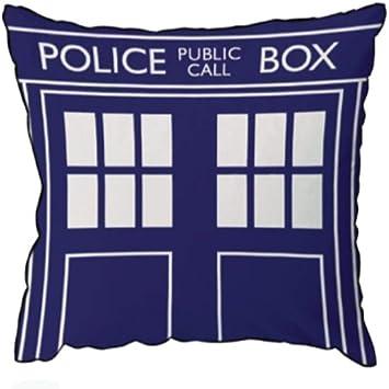 Amazon.com: Doctor Who Throw almohada – Cojín cuadrado, Dr ...