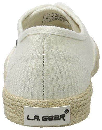 L.A. Gear Malva, Zapatillas de Lona Mujer Blanco (White)