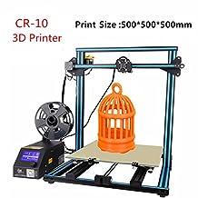Creality CR-10 Impresora 3D de escritorio con control de filamentos de doble eje Z Alarma Tamaño de impresión máximo 500x500x500mm US Plug Blue