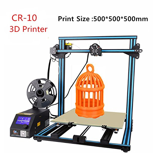 Upgrade Creality 3D Printer CR-10 S5 Filament Monitor With Dual Z Lead Screws Resume Print When Power Off 500x500x500mm (Blue) by Creality