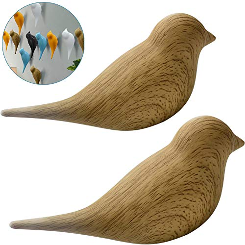 (Ceation Core 2Pcs 3D Creative Resin Bird Wall Hooks, Home Accessories Wall Decoration Towel Coat Hook Wall)