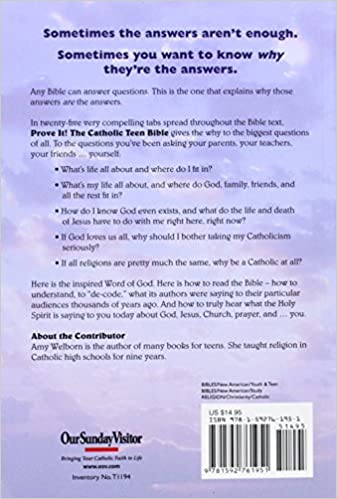 Workbook bible worksheets for middle school : Prove It! Catholic Teen Bible - Revised Nab: Amy Welborn ...