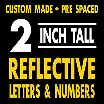 Amazon Com 2 Quot Reflective Letters Amp Numbers These Are