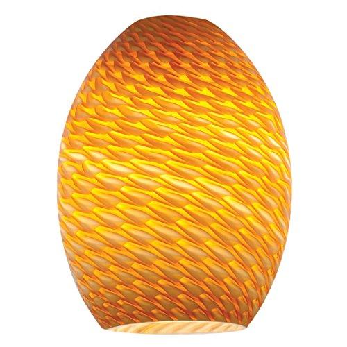 amber pendant lighting. Access Lighting 23123-AMBFB Firebird Brandy Pendant Glass Shade, Amber Finish L