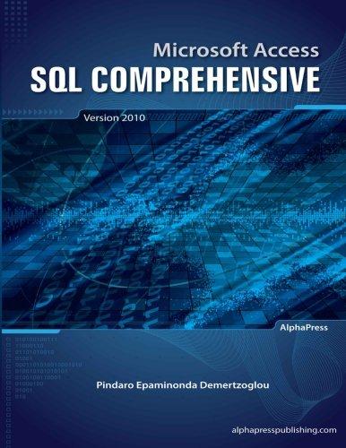 Download Microsoft Access SQL Comprehensive: version 2010 pdf epub