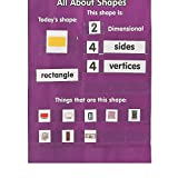 Bargain World Nylon All About Shapes Pocket Chart (With Sticky Notes)