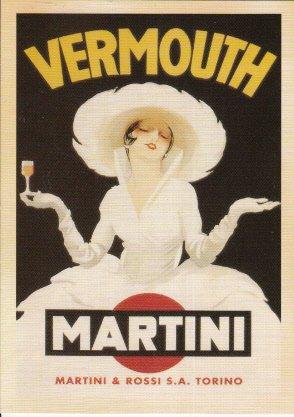 Unused Postcard Martini & Rossi S. A. Torino Vermouth Lady