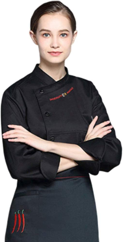 Chef Coat Breathable Jacket Fashion Restaurant Uniform Kitchen Workwear M-4XL