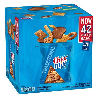 Chex Mix Traditional Snack Mix, 1.75oz, (42 ct.)