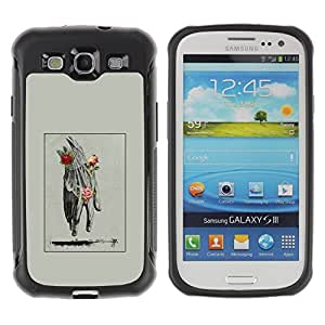 "Hypernova Defender Series TPU protection Cas Case Coque pour Samsung Galaxy S3 III I9300 [Mano Hombre Primavera Profundo Rose Significado""]"