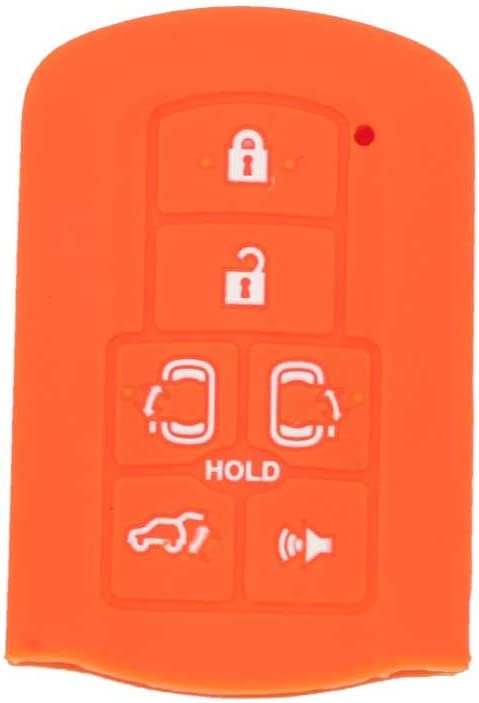 SEGADEN Silicone Cover Protector Case Holder Skin Jacket Compatible with TOYOTA 6 Button Smart Remote Key Fob CV2408 Light Blue