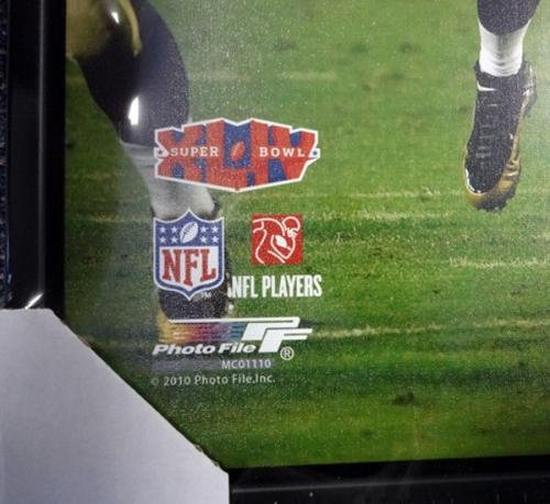 Drew Brees Autographed Signed Framed 24x30 Canvas Photo Saints #/9 94475 PSA/DNA Certified Autographed NFL Art