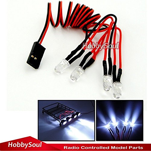 hobbysoul RC Model LED Light (Diameter 5mm, Halogen White) ()