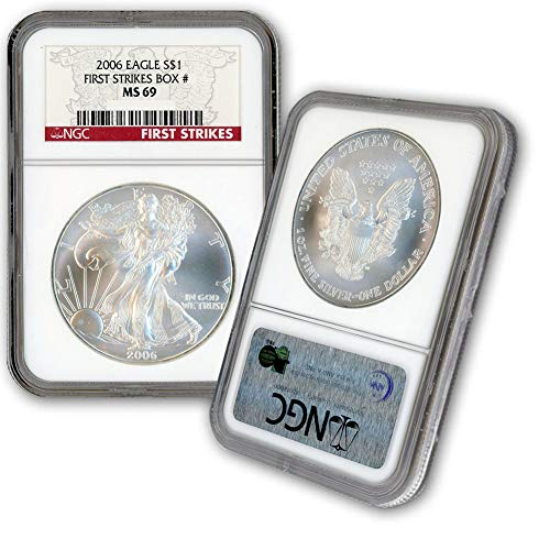 2006 American Silver Eagle $1 MS69 NGC First Strikes ()