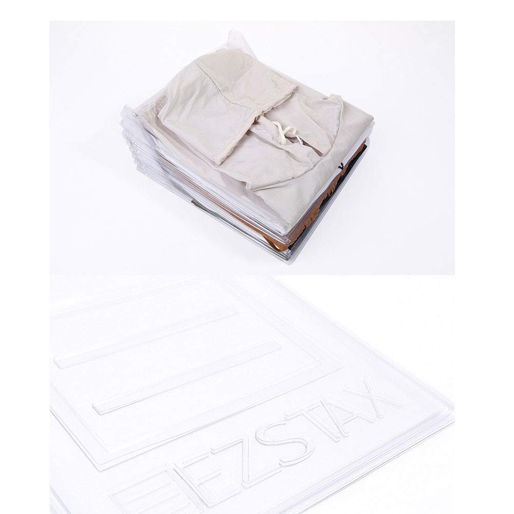 Qiangs Organizador de Armario cajones Divisores de Armario Camiseta Carpeta de Ropa Carpeta de Ropa Duradera Organizadores de Armario Plegables