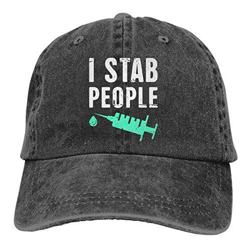 Stab Bush - SDFF2344 I Stab People Mens Womens 100% Cotton Adjustable Hip-hop Cap Black