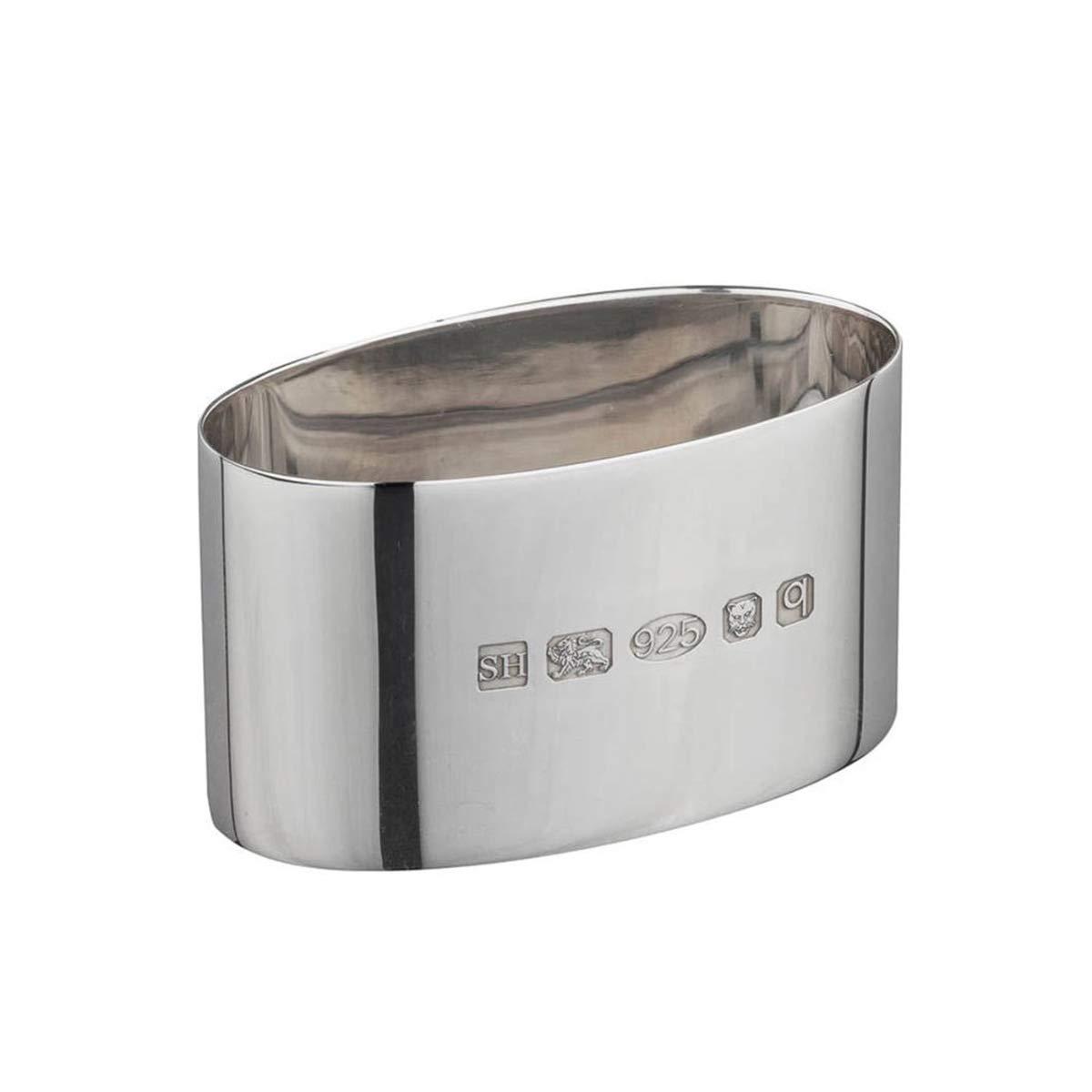 1a7ec4ba5 Silver Napkin Ring Heavy Oval | Hersey & Son Silversmiths: Amazon.co.uk:  Jewellery