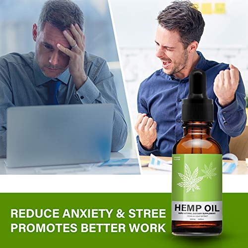 Hemp Oil Extract for Pain, Stress & Anxiety Relief - 5000 MG Sleep Support, Promotes Relaxation, Full Spectrum Extract Drops, Organic Natural Hemp Seed Oil, Rich in Omega 6, 9 Fatty Acids (30ml) by Mespirit (Image #4)