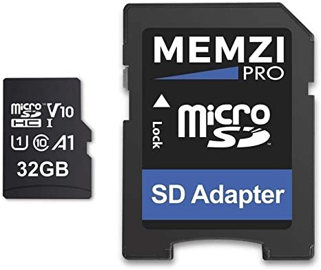 Memzi Pro 32GB clase 1090Mb/s tarjeta de memoria Micro SDHC con adaptador SD para victure AC600, AC400, AC200o dragón Touch visión 3deportes cámaras de acción