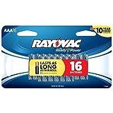 Rayovac Alkaline AAA Batteries, 824-16SCF, 16-Pack