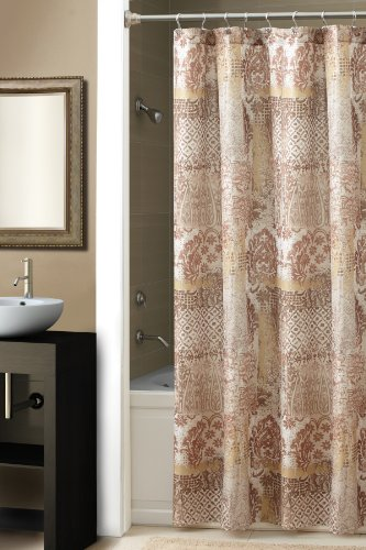 - Chapel Hill by Croscill Courtesan Shower Curtain, Brown