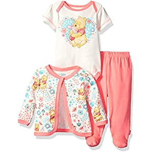 Ratings and reviews for Disney Baby Girls' Winnie The Pooh 3-Piece Bodysuit, Pant, and Jacket Set
