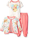 Disney Baby Girls Winnie the Pooh 3-Piece Bodysuit, Pant, and Jacket Set