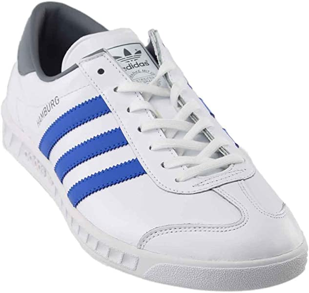 new arrival 738c7 10fc5 adidas Mens Hamburg Footwear WhiteBlue Grey Ankle-High Running Shoe ...