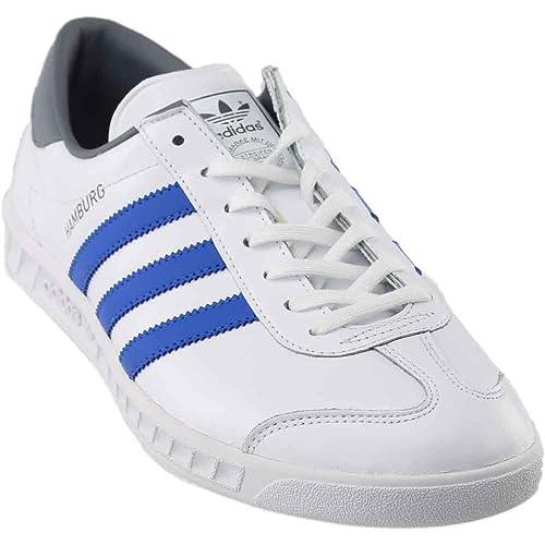 new arrival 40fe0 efdd2 adidas Mens Hamburg Footwear WhiteBlue Grey Ankle-High Running Shoe ...