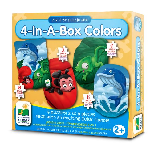 Dinosaurs Mdf Toy Box Childrens Storage Toys Games Books: The Learning Journey My First Puzzle Sets 4-In-A-Box