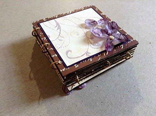 Lavender Flower Flip, Folding Mini Album