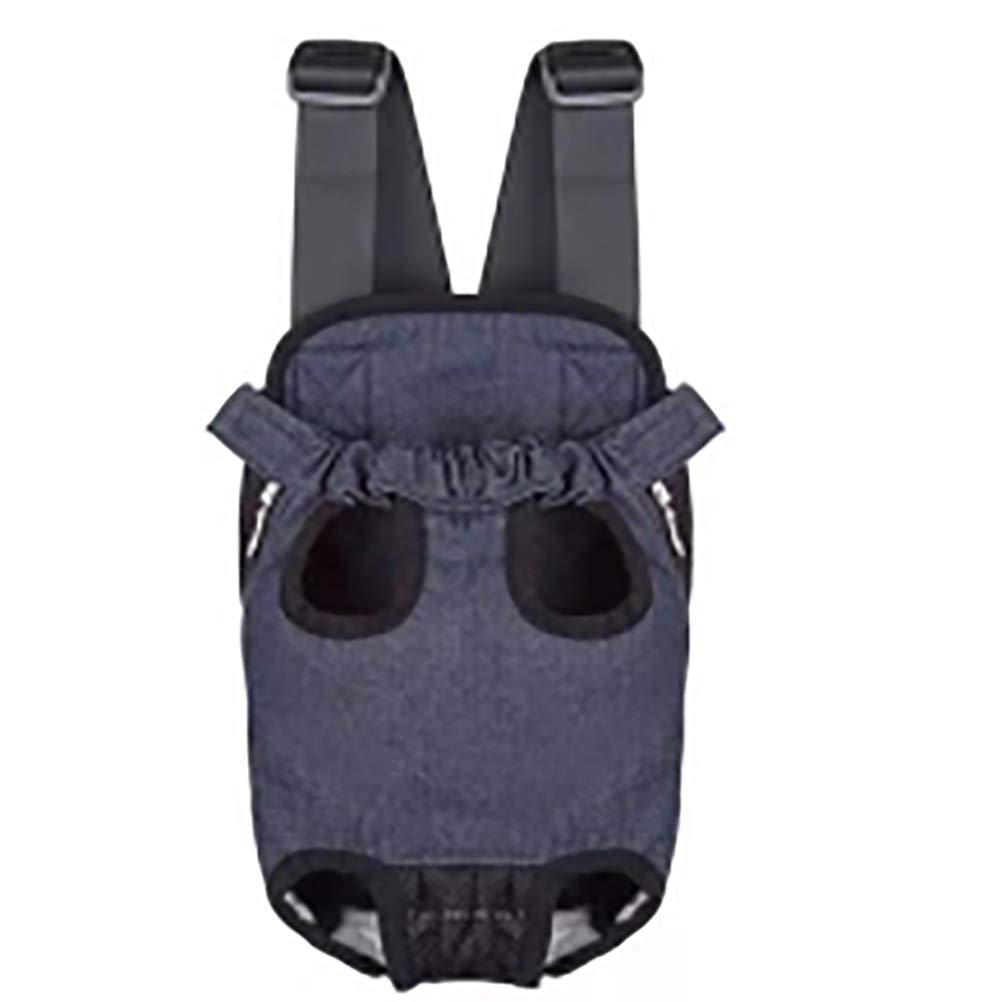 Denim Small Denim Small Pet Carrier Backpack Legs Out Chest Backpack Hands-Free, Easy-Fit for Hiking, Shopping,Parties,Denim,S