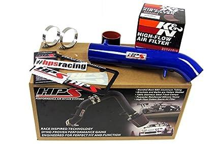 HPS 27-113BL Blue Short Ram Air Intake Kit Non-CARB Compliant