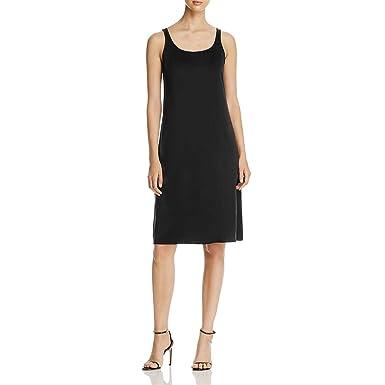 794228cee4 Eileen Fisher Womens Silk Sleeveless Slip Dress Black XXS at Amazon ...