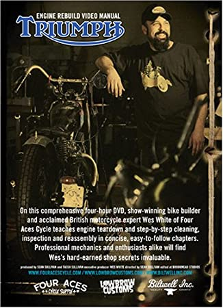 Amazon com: Triumph 650 Motorcycle Rebuild DVD: Wes White