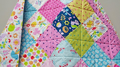 Wildflower Baby Girl Quilt by Now and Then Quilts