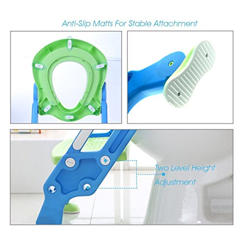 Potty Toilet Trainer Seat with Step Stool Ladder Adjustable Baby Toddler Kid Potty Toilet Seat for Boy and Girl Children's Toilet Training Seat Chair by Mangohood (Image #2)