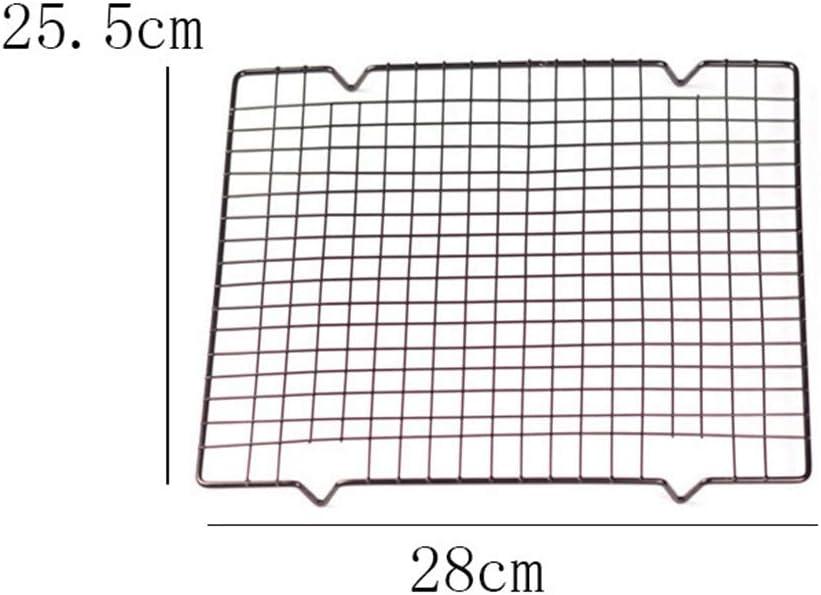Kuchengitter zum Backen Schwarz Small nicht null Free Size Edelstahl mit Antihaftbeschichtung 28 x 25,5 x 2 cm