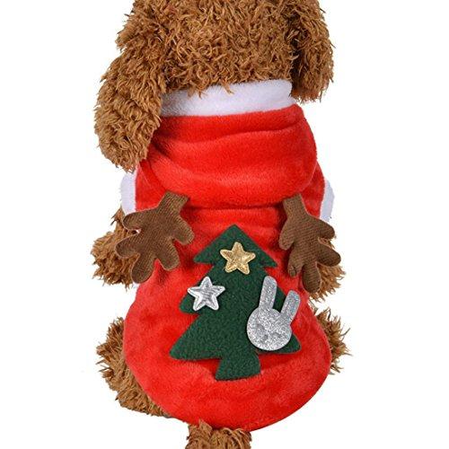 ❀AMUSTER ❀Veste d'animal familier de Noël Costumes mignons pour chiens Elk Hoodie Coats