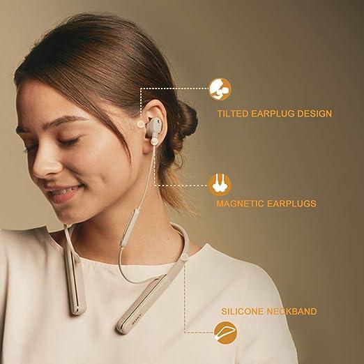 YQQWN Cuffie Bluetooth, Cuffie con eliminazione del Rumore