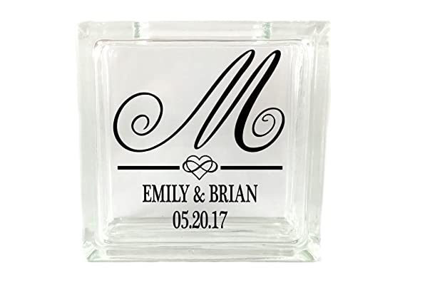Fancy Initial - Monogram Sand Unity Ceremony Set - Small Square