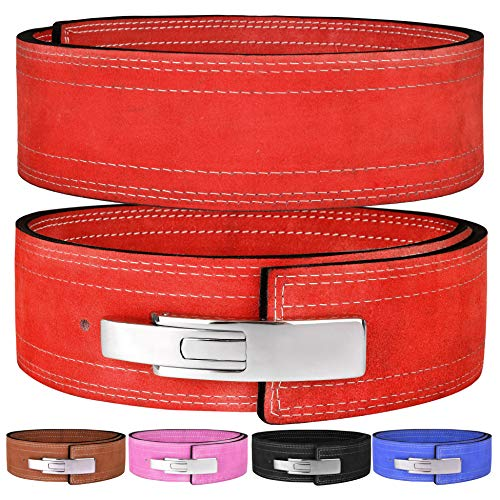 Hawk Sports Lever Belt 10mm Powerlifting Belt for Men & Women Buckle Strongman Power Weight Lifting Weightlifting Belts (Red, M (32''-38'')) (Lever Belts)