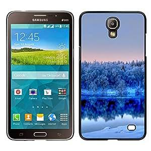 Caucho caso de Shell duro de la cubierta de accesorios de protección BY RAYDREAMMM - Samsung Galaxy Mega 2 - Naturaleza Winter White Lake