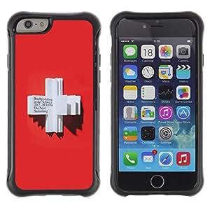 "Pulsar iFace Series Tpu silicona Carcasa Funda Case para Apple iPhone 6+ Plus(5.5 inches) , Cruz Roja Corazón Sangre Alemana libro"""
