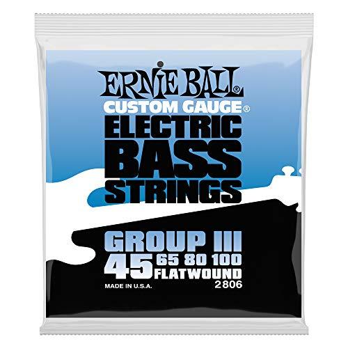 - Ernie Ball Flatwound Bass Set Group III, .045 - .100