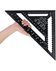Driehoekige liniaal van aluminiumlegering, zeer nauwkeurige, vierkante gradenmeter, voor dakbedekker, snelheidsmeting, timmerwerkjes en frames, voor ingenieurs, timmermans, 30 cm