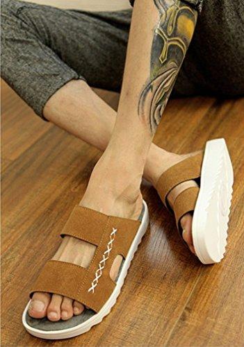 Kiss Gold (tm) Mens Estate Traspirante Mocassini Pantofola Per Il Tempo Libero Marrone-modello B